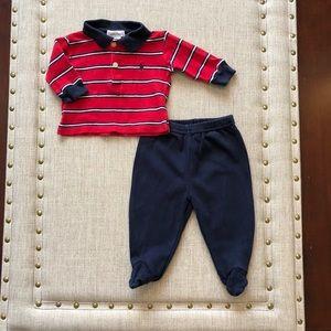Boy's 0/3 month Ralph Lauren set